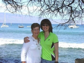 Me and Mom in Maui light